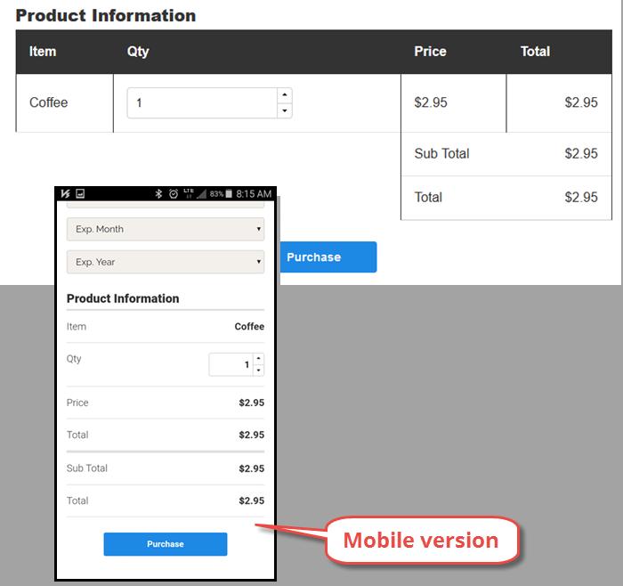 desktop and mobile product grid displays