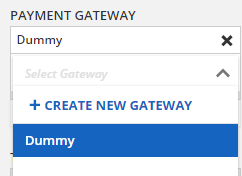 Select the new Dummy Gateway from the drop down