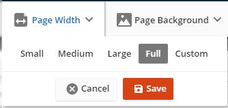 edit page width