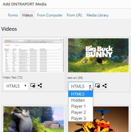 Videos from the video manager in ONTRAPORT can be streamed with your choice of players