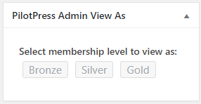 the Admin View As buttons