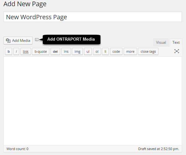 add ONTRAPORT media button