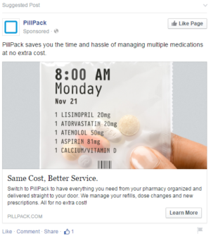 PillPack Pharmacy Ad