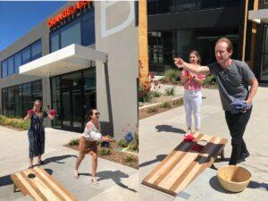 Playing Outdoor Games at Orange Label