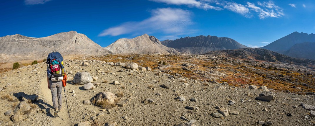 The approach to Mather Pass. Another John Muir Trail moonscape!