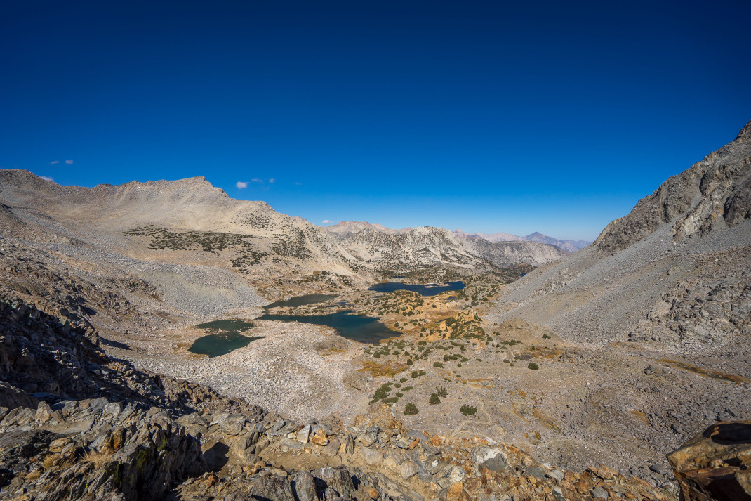 Looking off the pass down toward South Lake (out of sight down the valley).