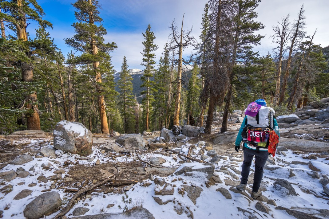 Hiking the John Muir Trail.