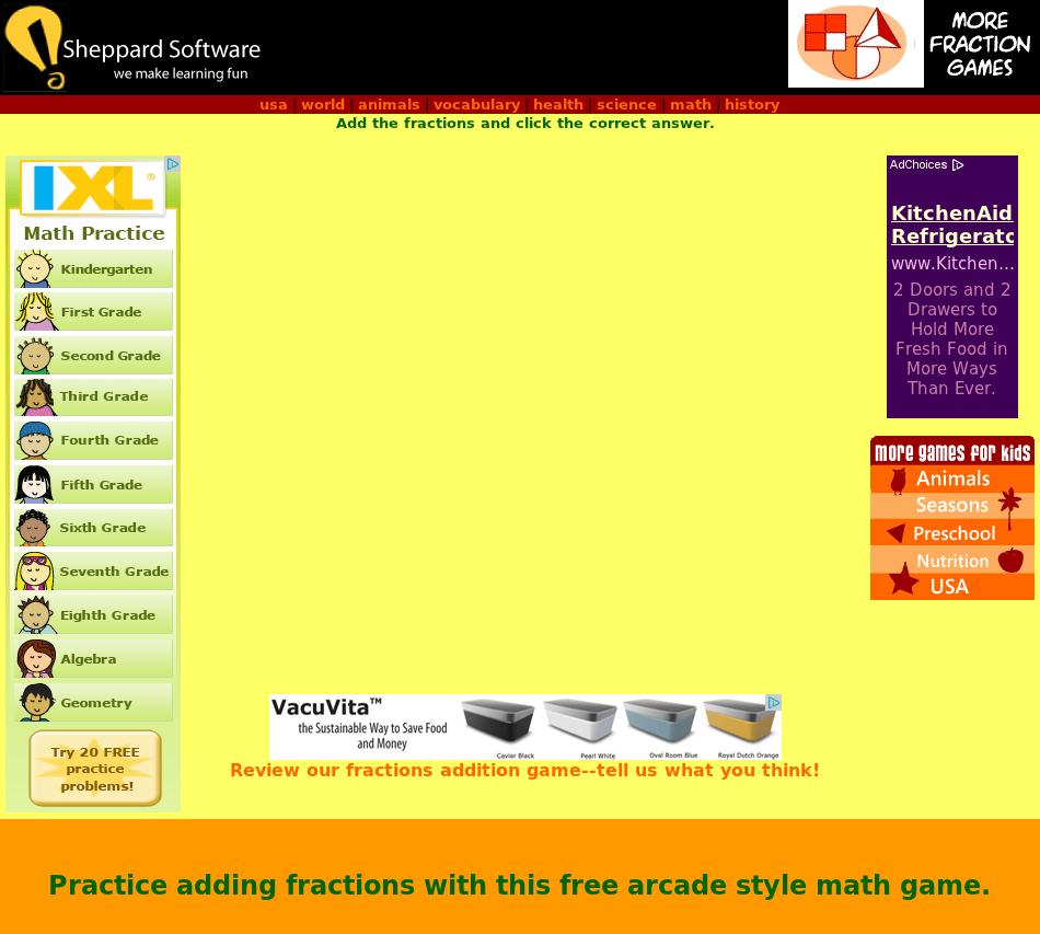 Math Games Fruit Shoot Multiplication Sheppard Software