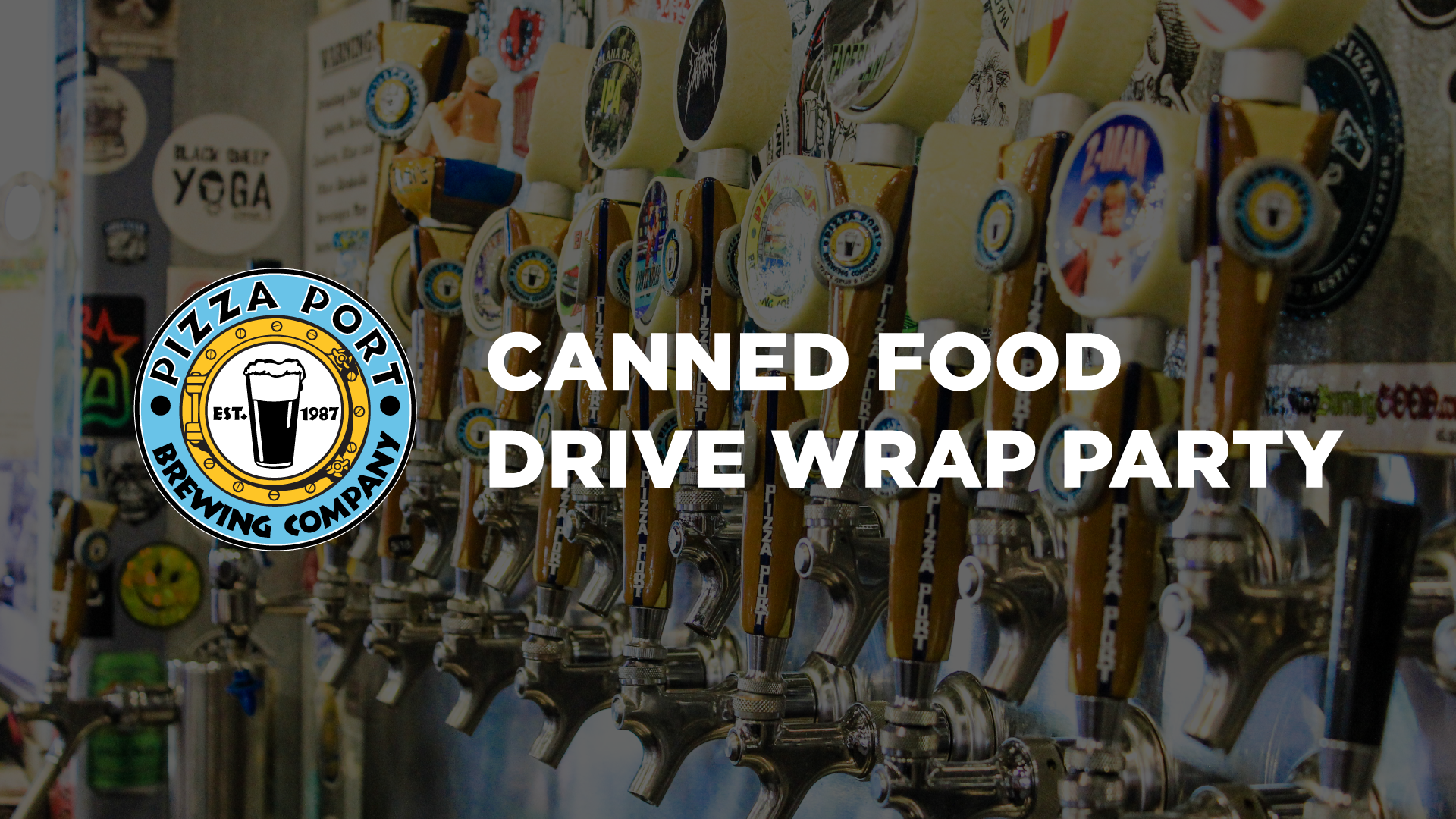 Canned Food Drive Wrap Party
