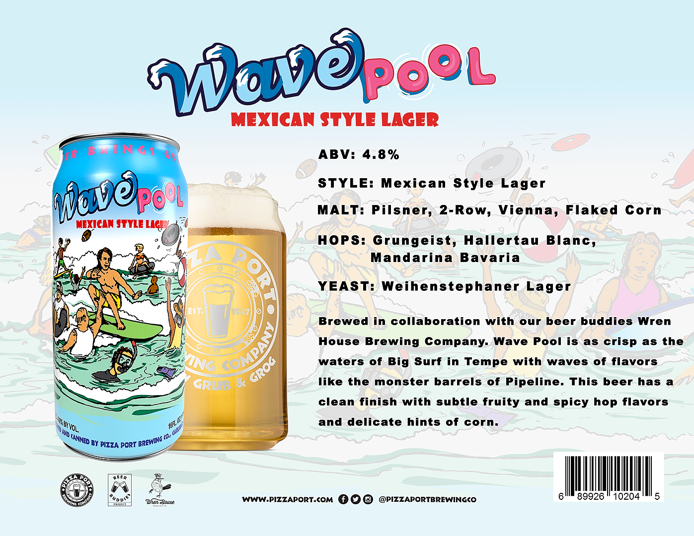 Wave Pool Mexican Lager