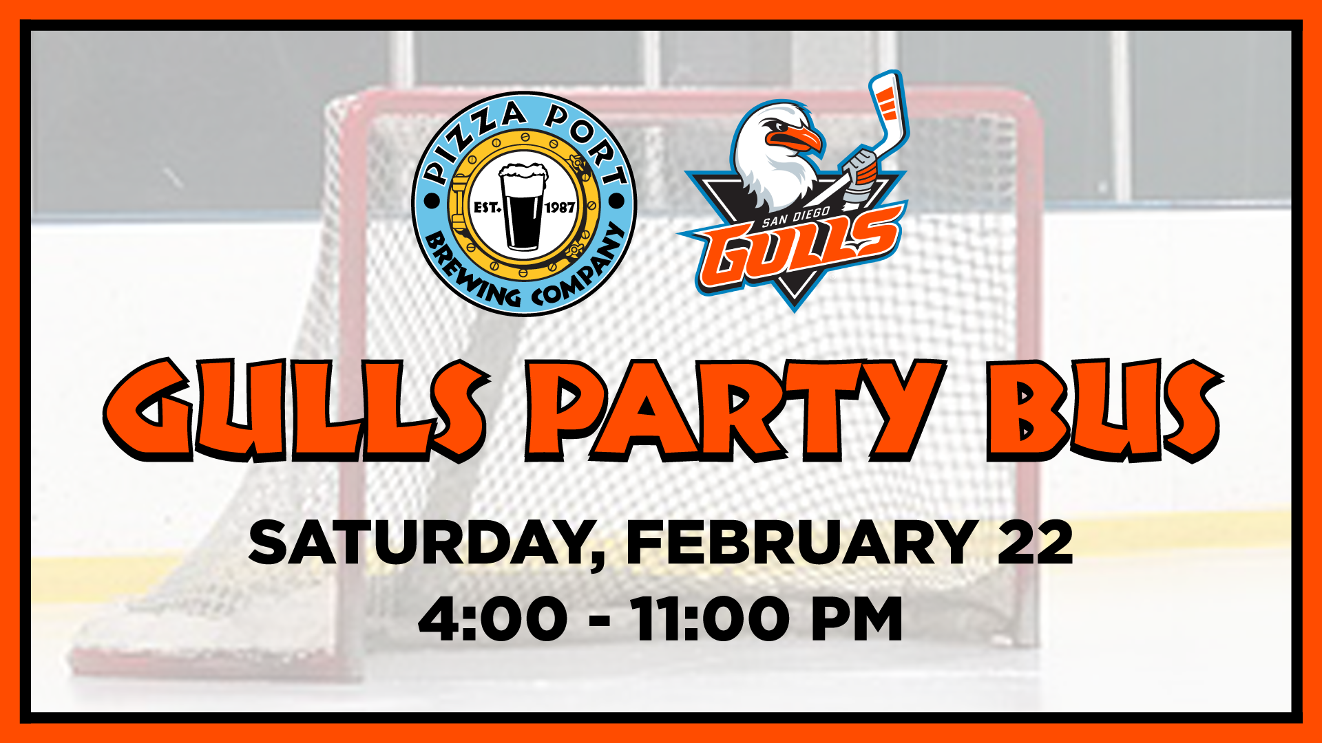 Pizza Port's San Diego Gulls Party Bus