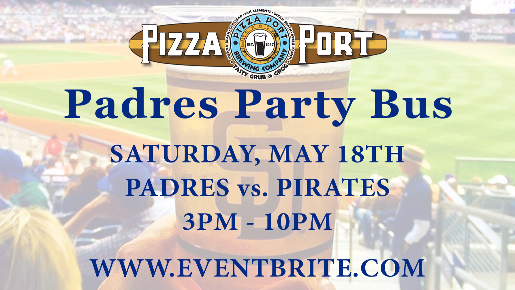 Pizza Port Padres Party Bus vs. Pittsburgh Pirates