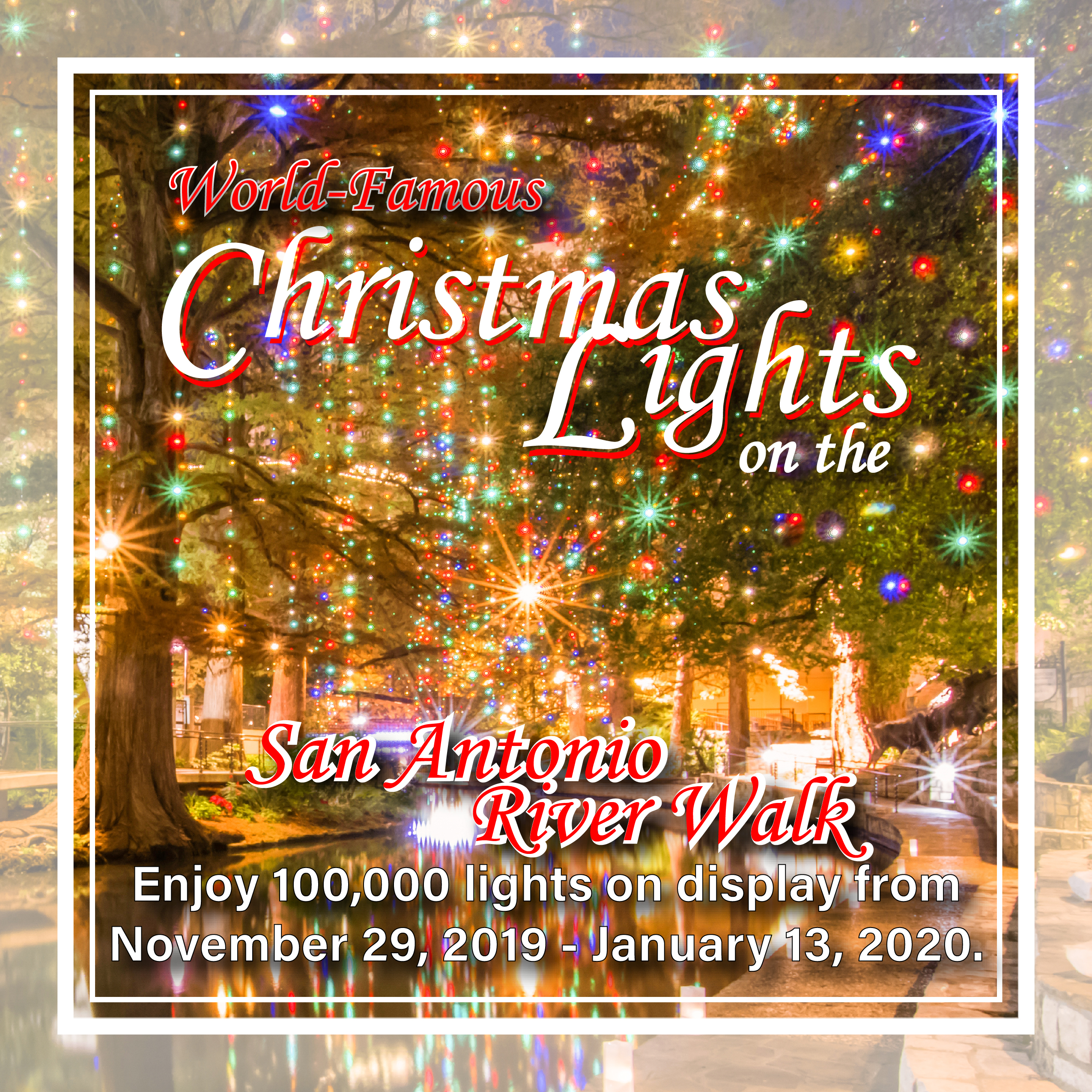Christmas 2020.Christmas Lights On The River Walk