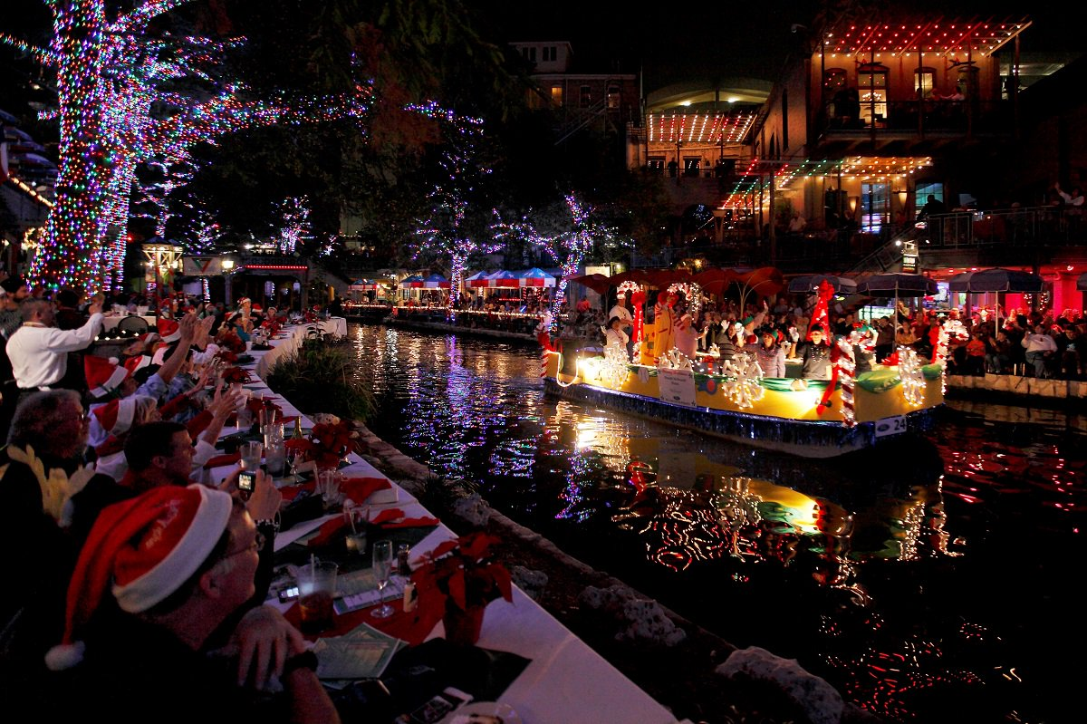 Christmas Lights on the River Walk