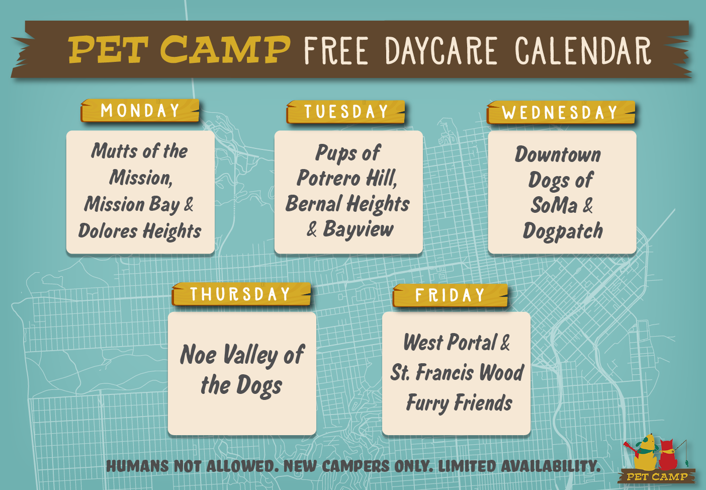 calendar free doggie daycare neighborhood