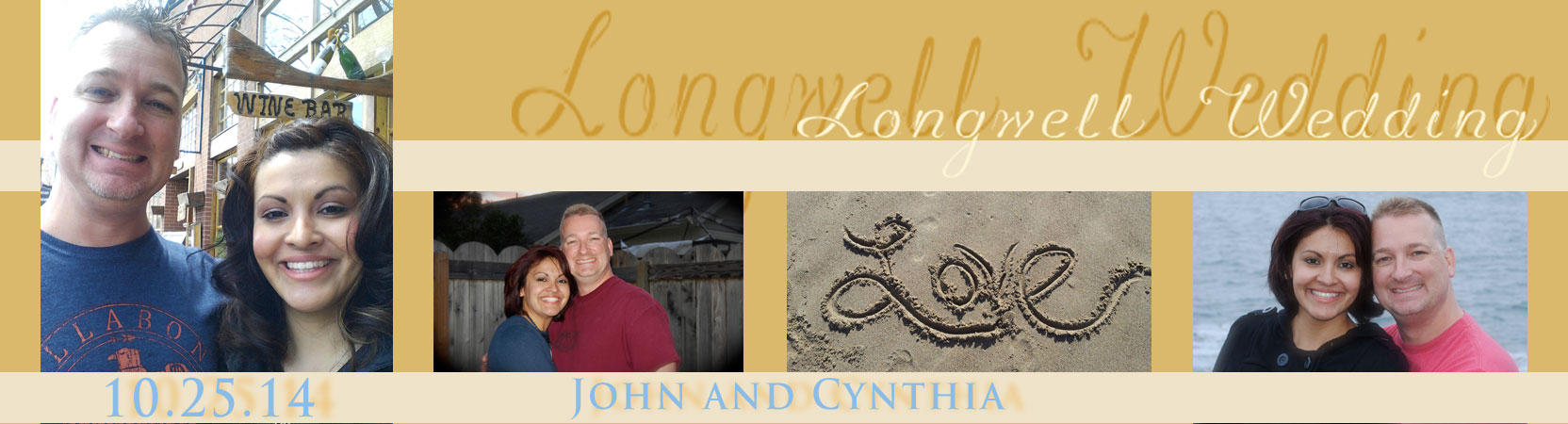 Wedding Logo Cynthia and John Picture Collage