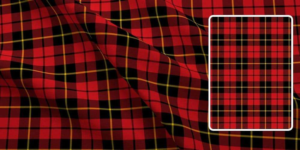 clan wallace tartan fabric