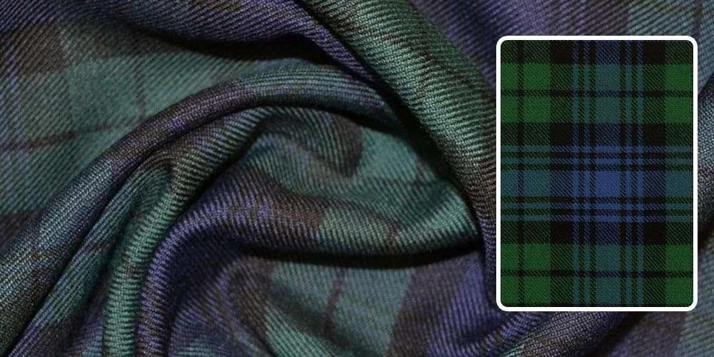 black watch tartan fabric
