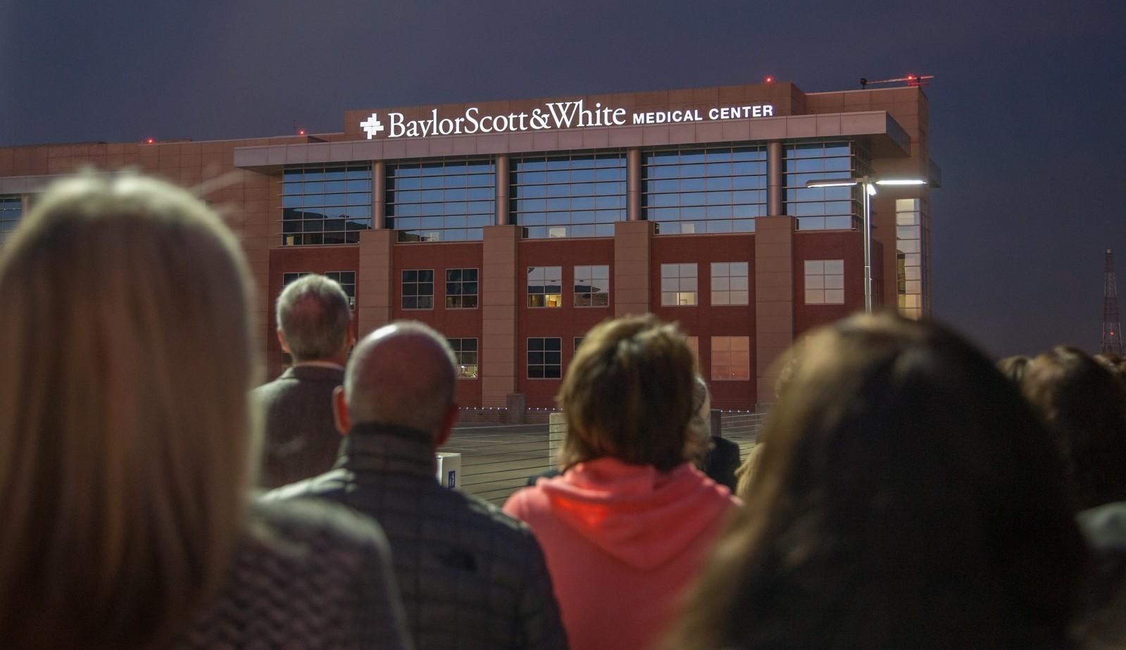 Baylor Scott White Medical Center new Sign December Plano