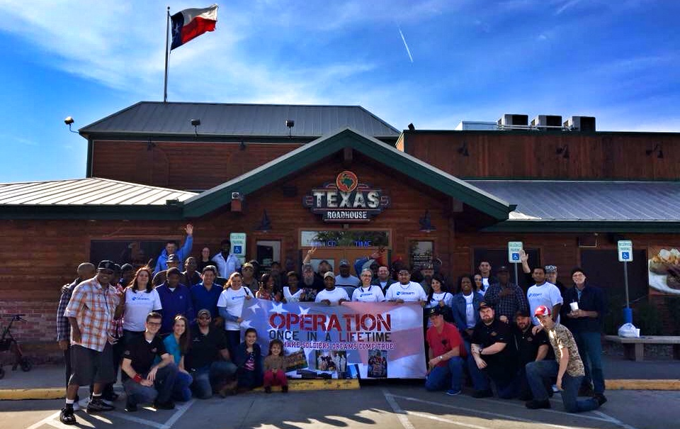 Opertaion Once In A Lifetime, veterans Texas Roadhouse
