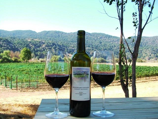 wine meadowlark vineyard california