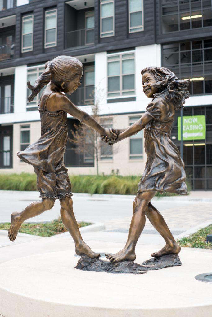 Whirlwind statue, CityLine, Richardson, public art, statue