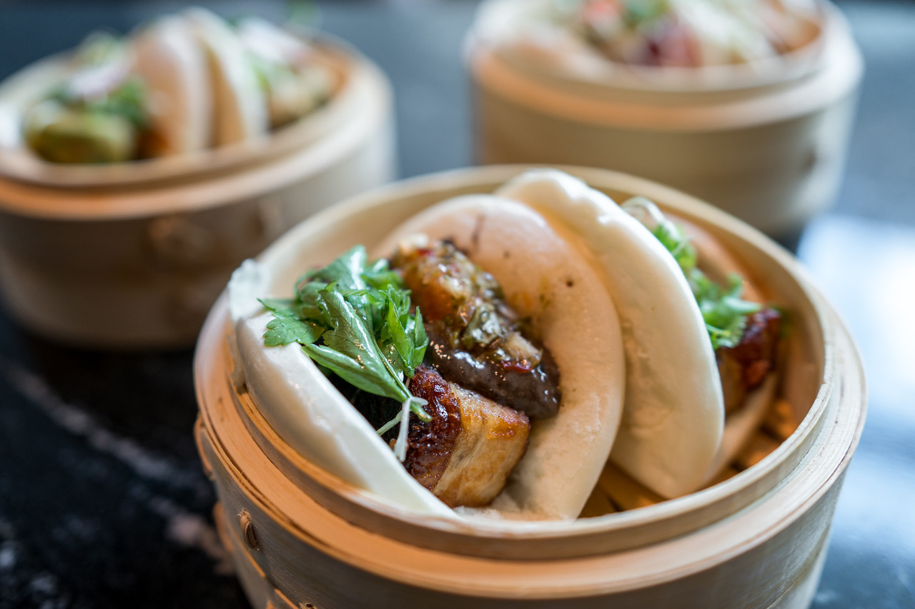 Pork Belly Buns I By Cori Baker, renaissance Dallas at Plano legacy west hotel