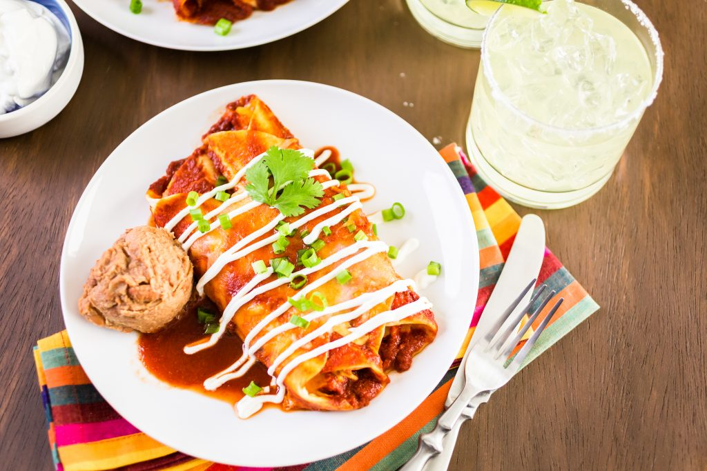 chicken-and-sour-cream-enchiladas