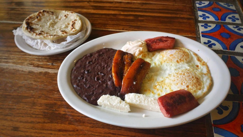 Lily's Cafe Plano breakfast dish Huevos con Salchichones