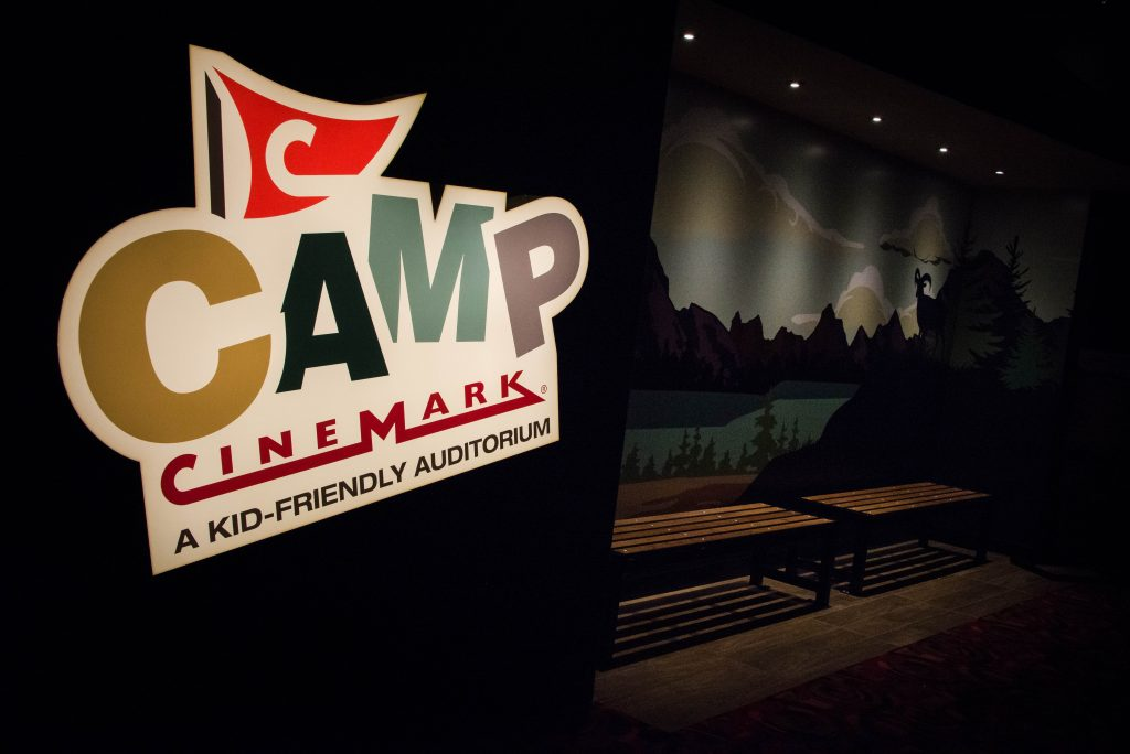 Camp cinemark, kid-friendly auditorium, cinema, allen, texas