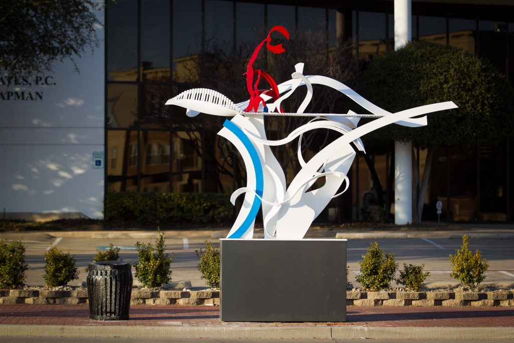 downtown Plano portal project. city go plano, sculpture, joshua weiner, artist, public art