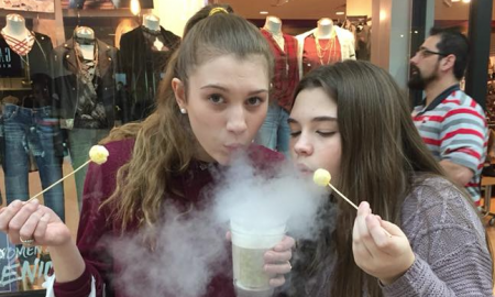 Dragon's Lab, Frisco, Stonebriar Mall, Dragon's Breath, Nitrogen Breath, nitrogen-infused cereal balls