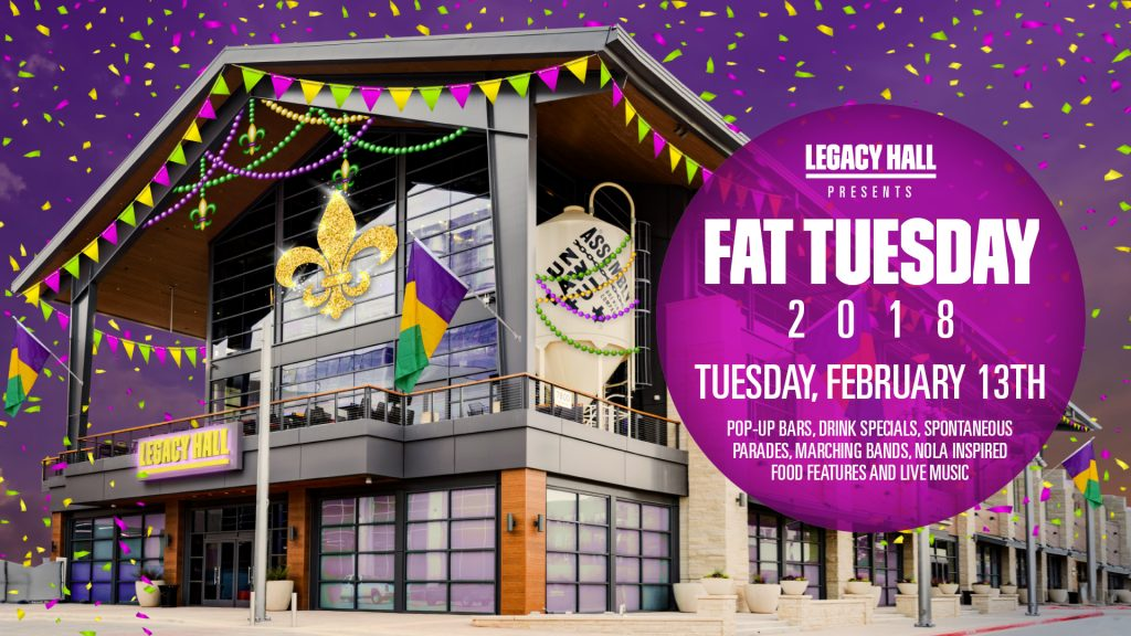 Legacy Hall, Legacy West, fat tuesday, plano, collin county