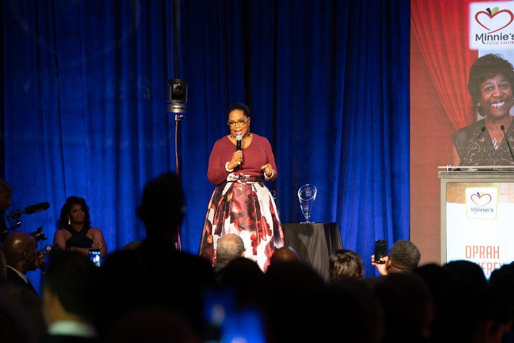 Oprah Winfrey Minnie's Food Pantry Cheryl Action Jackson Plano food pantry Plano Profile Feed just One Gala