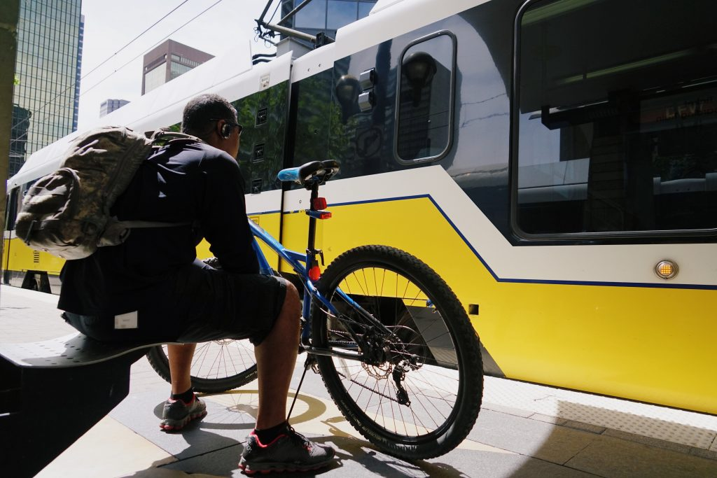 bike to work, transportation, DART Plano