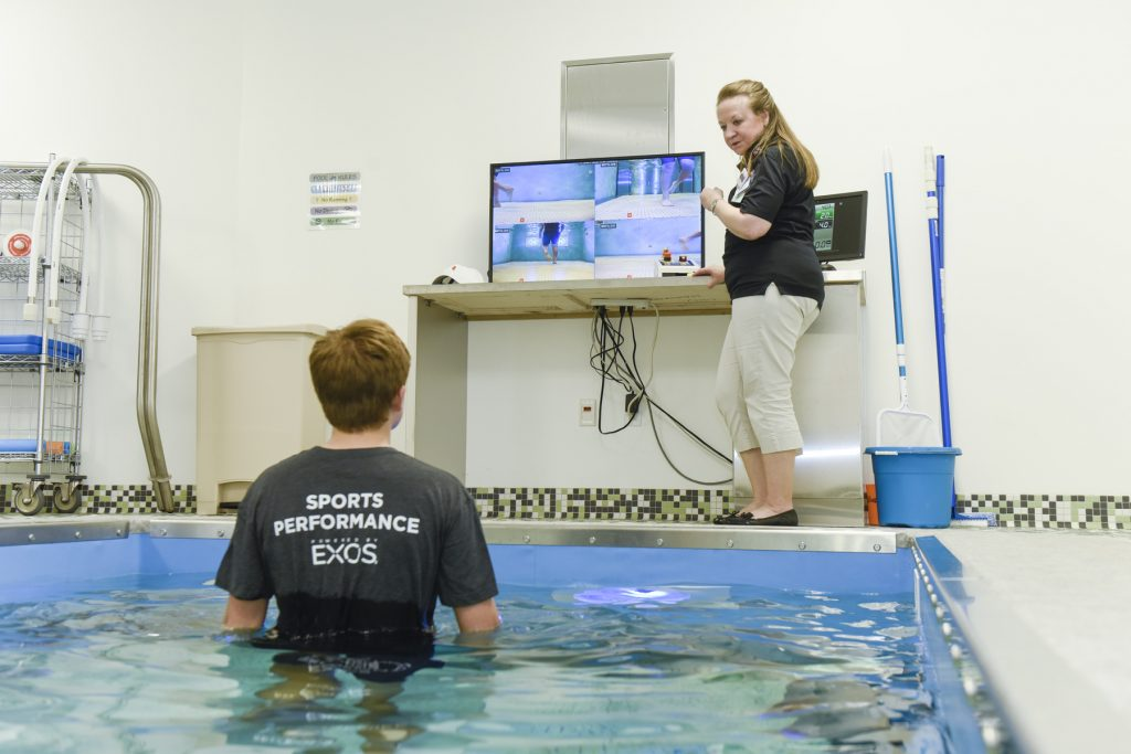 HydroWorx. Children's Health Andrews Institute for Orthopedics & Sports Medicine and Sports Performance powered by EXOS. plano, texas