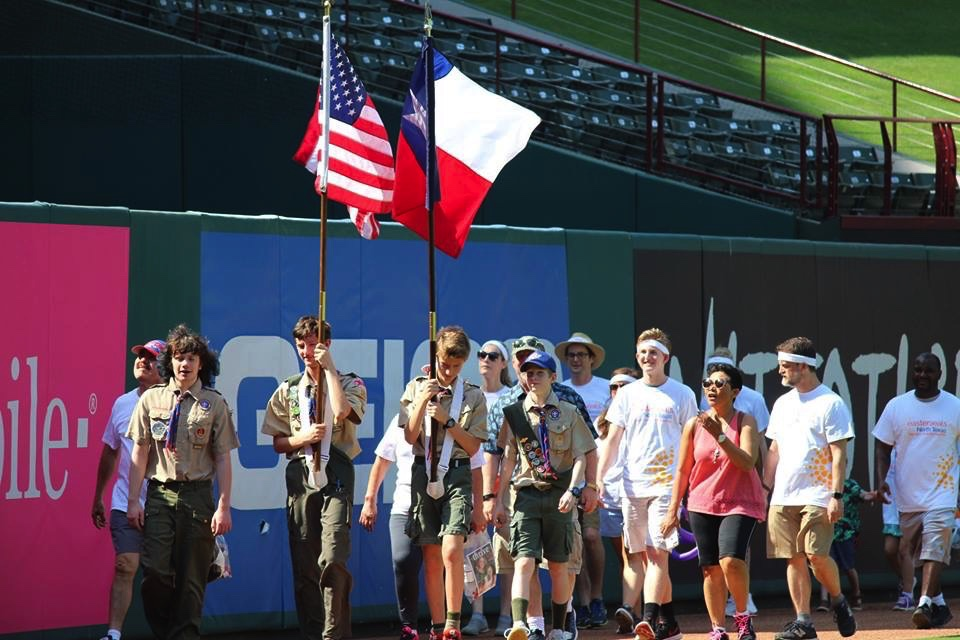 Scouts, Boy Scouts, Troop 181, community service, Easter Seals Walk With Me, Globe Life Park