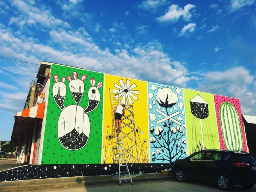 Joshua King, AURORA, Downtown Plano Mural Project