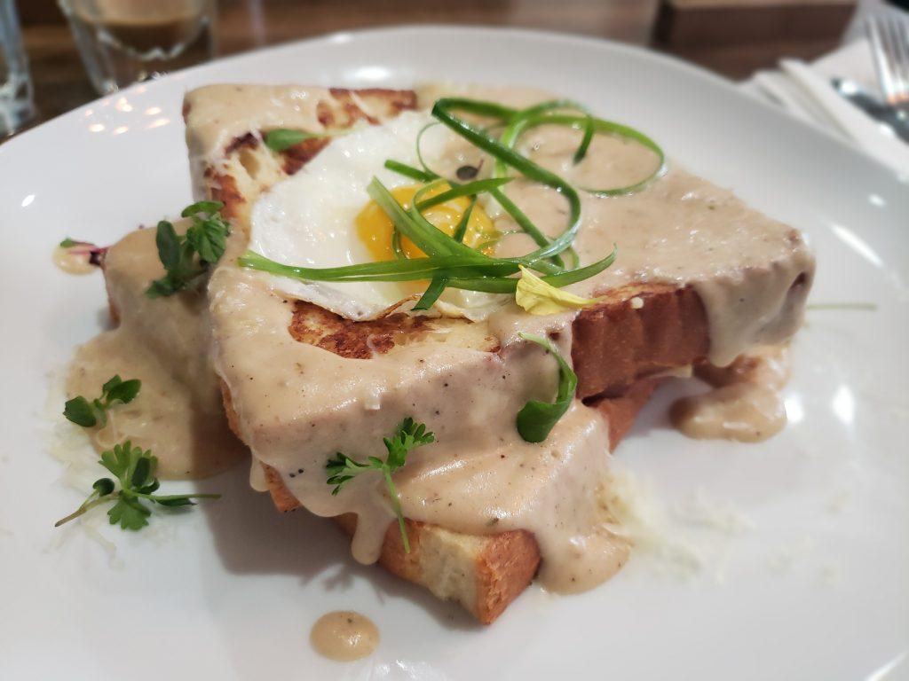 The Nest Cafe Frisco brunch croque madame