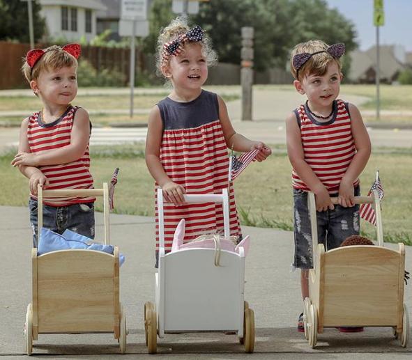 The Bennett Triplets, aka @bennetttriplets on Instagram, Plano, Texas