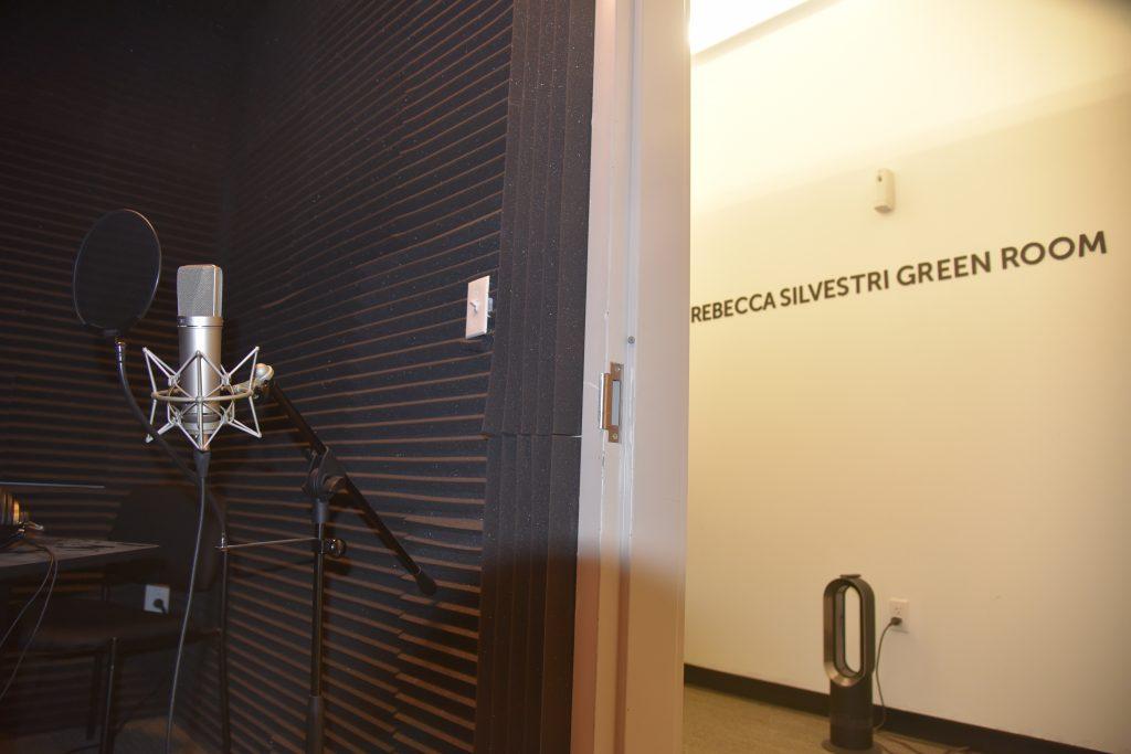 Rebecca Silvestri Green Room Legacy West Podcast studio