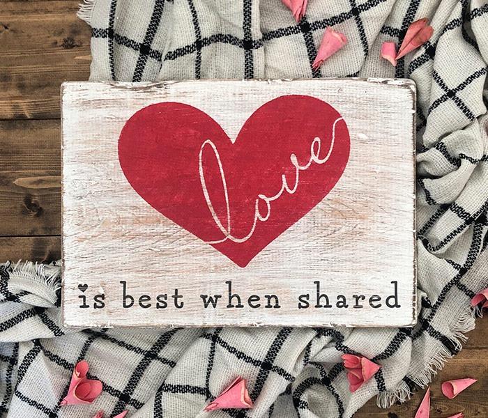 love is best when shared board