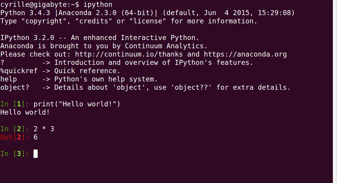 IPython terminal