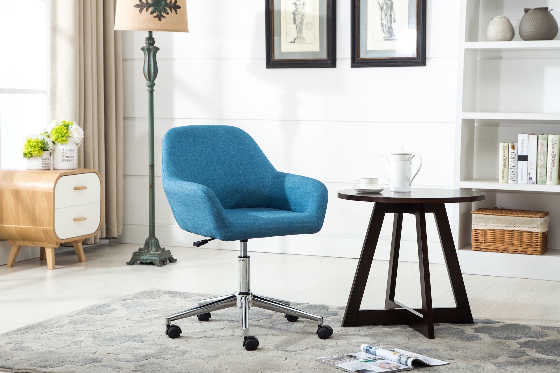 chair with upholstered dining swivel office button desk emma product back the