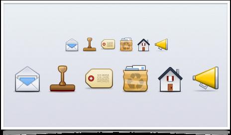 Postbox Retina Icons