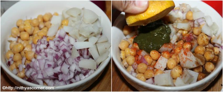 Aloo chana chaat recipe,Channa chaat recipe