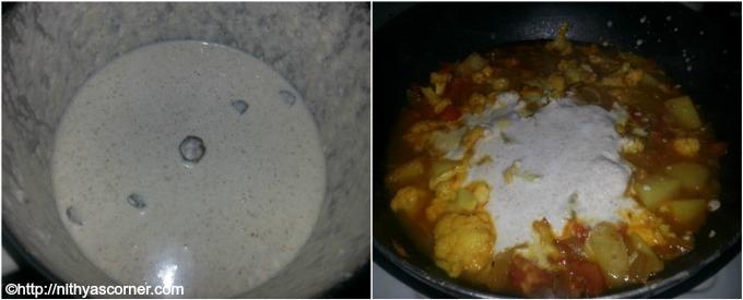 Simple and easy cauliflower potato kurma