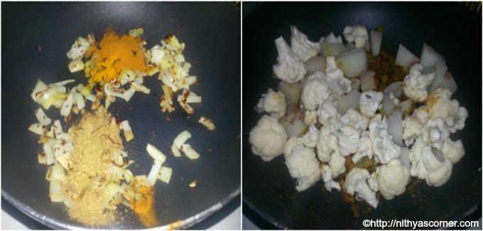 how to make cauliflower potato kurma