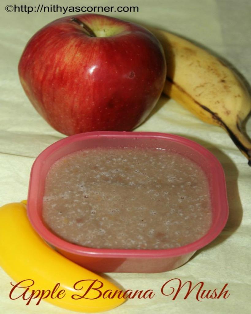 Apple banana mush recipe