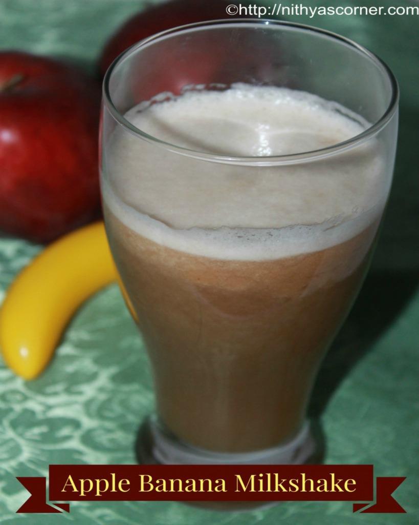 how to make an apple and banana milkshake